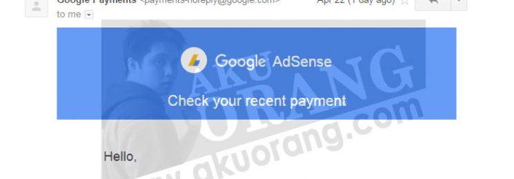 Bayaran Adsense Untuk Bulan Mac 2016 – USD 438.05